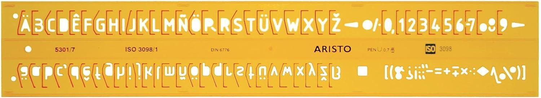 Aristo AH5301//7 Lettering Stencil ISO 3098-1