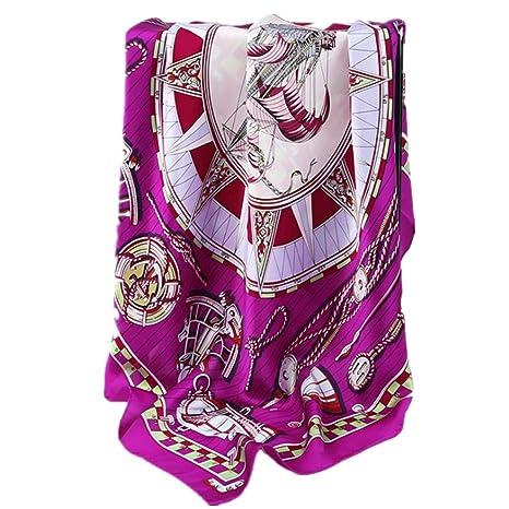New Bufandas de mujer Primavera Verano Viaje cómodo Toalla de playa (Color : Púrpura)