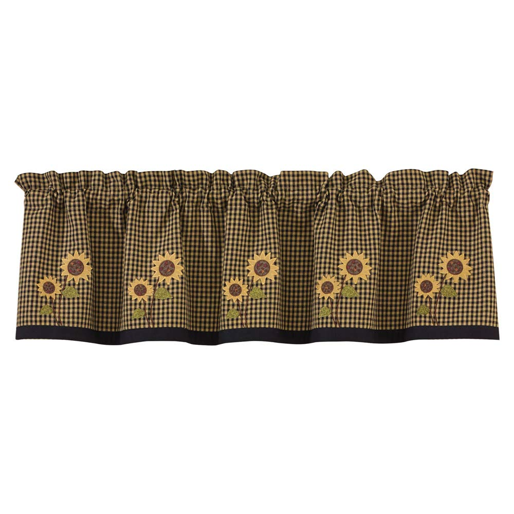Park Designs Sunflower Check Lined Valance, 60 x 14 by Park Designs