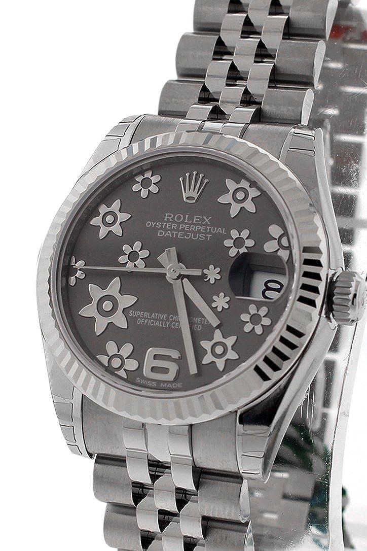 Rolex Datejust 31 mm foncé rhodium Motif floral Cadran Jubilee ...