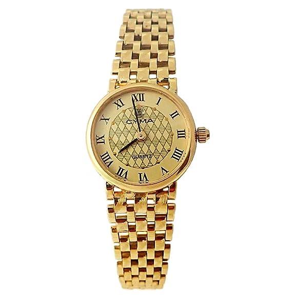 Reloj oro 18k Cyma mujer panter liso brillo matehttps://amzn.to/2KABe8a