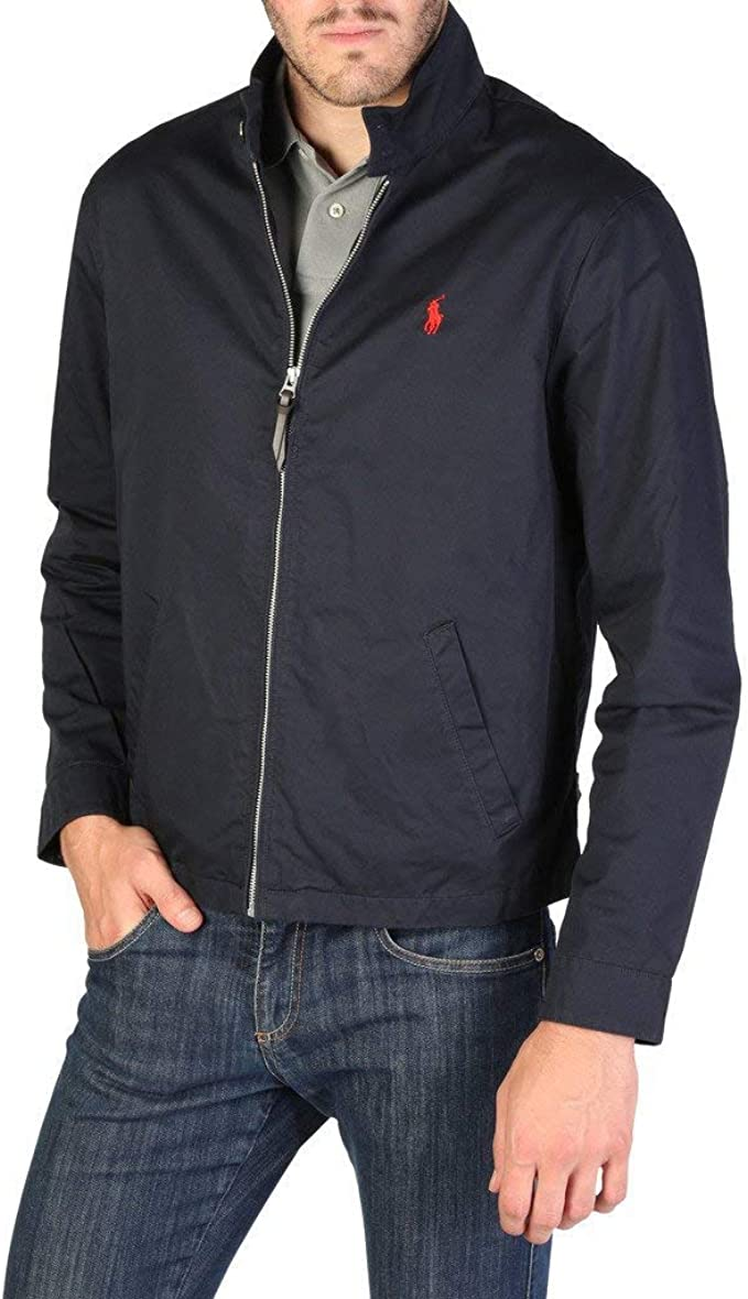 Ralph Lauren Barracuda-Lined-Jacket Chaqueta Bomber, Azul (College ...