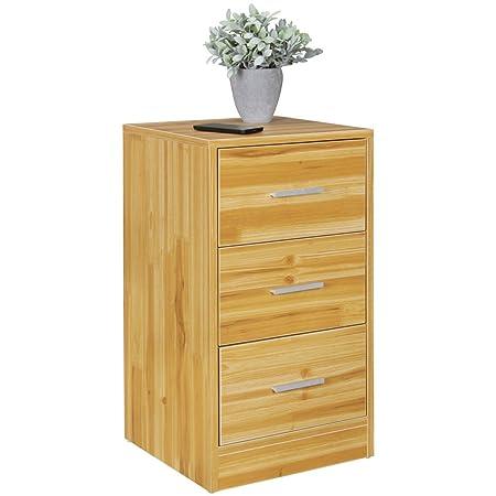 Finebuy Nachtkonsole Boxspringbett Ole Mit 3 Schubladen In Holz
