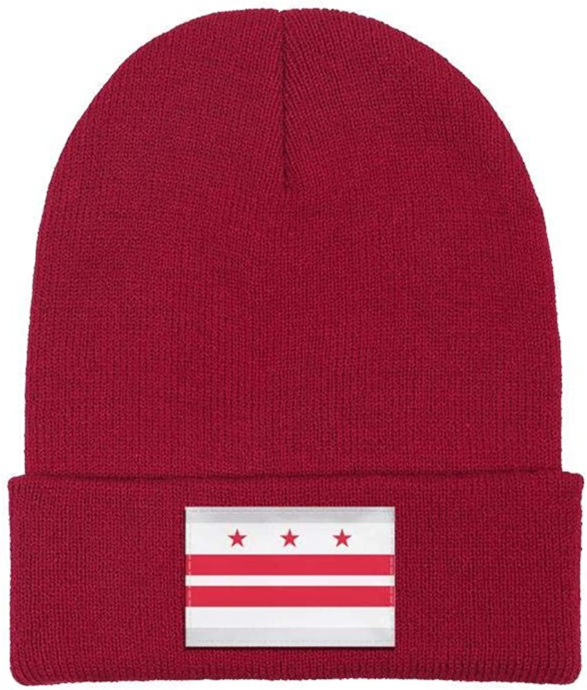 Unisex Knit Beanie Hat USA Flag Track and Field Warm Winter Skull Caps
