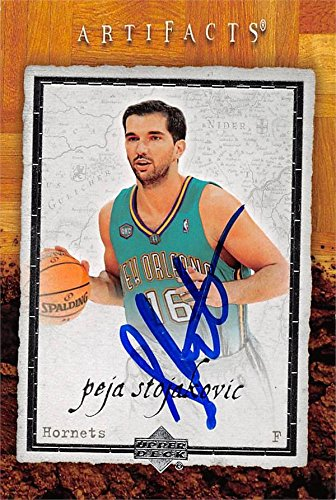 0f1b13b447a Amazon.com: Peja Stojakovic autographed Basketball Card (New Orleans Hornets)  2007 Upper Deck Artifacts #60 - Unsigned Basketball Cards: Sports  Collectibles