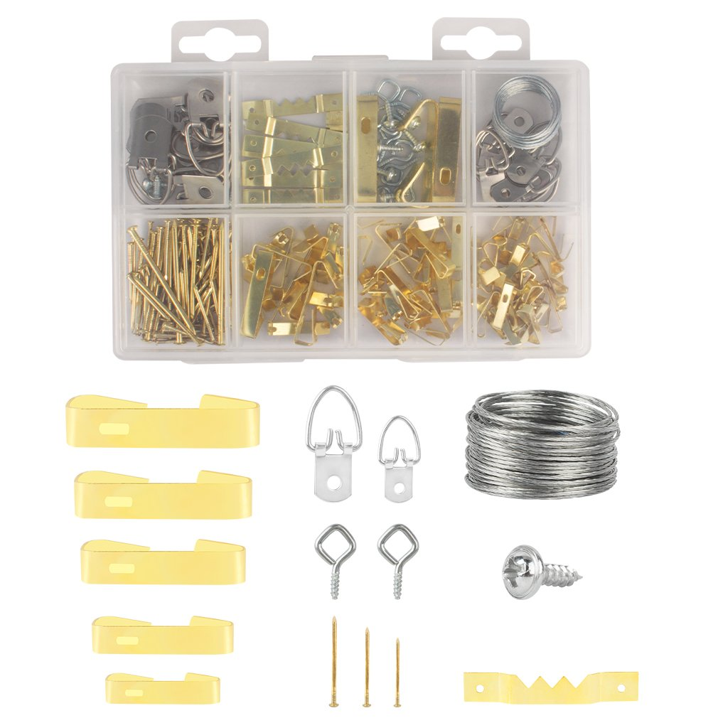 Amariver Picture Hanging Kit, Complete 240 Pieces Picture Photo Frame Hanging Kit with Nails and Screws for Wall Mounting Picture Hanger