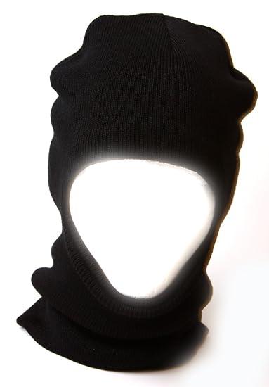 Amazon.com  One Hole Ski Face Mask (Black)  Clothing cd6268beda6
