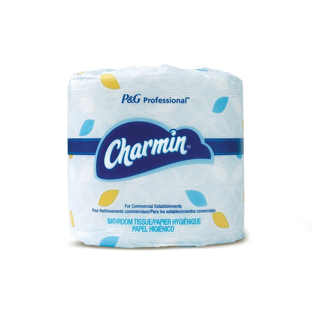 Charmin For Commercial Use Toilet Paper, Individually Wrapped, 2-Ply Standard Roll, 75 Rolls/Case, 450 Sheets/Roll