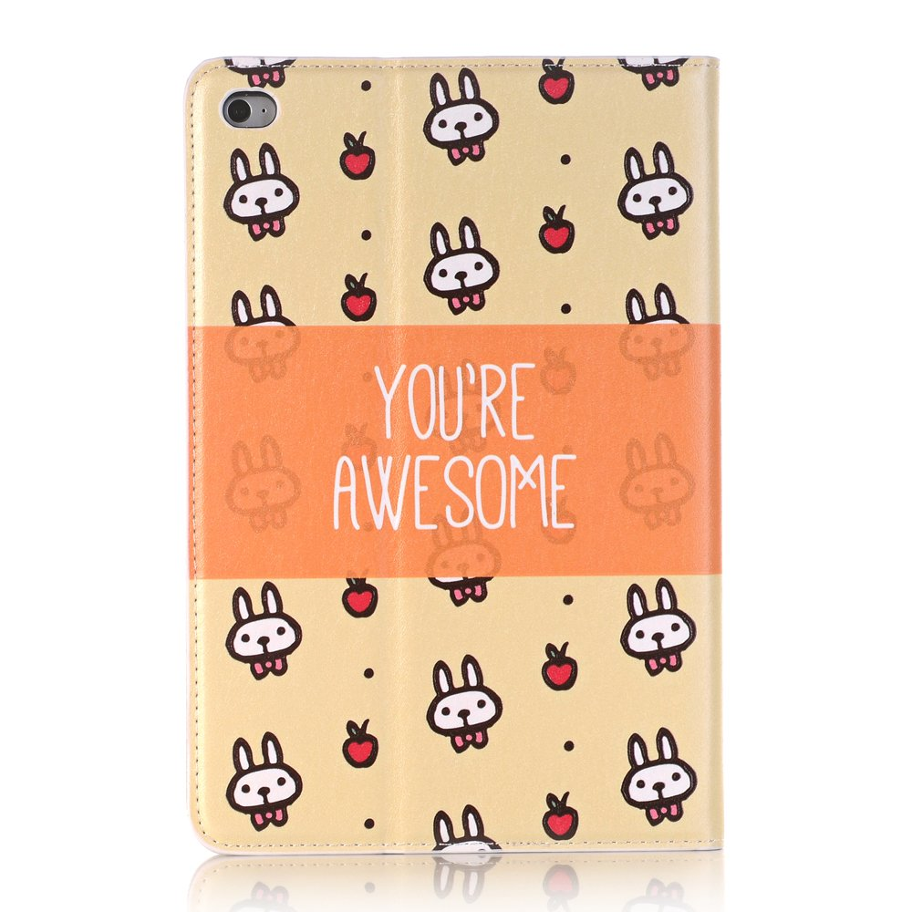 Businda Folio Case with PU Leather Auto Wake/Sleep Flip Folio Stand Smart Cover for Apple Tablet (2015 Release) 7.9 Inch,Small Rabbit by Businda
