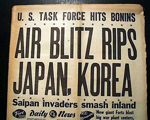 1st-b-29-superfortress-japanese-mainland-bombing-attack-1944-old-wwii-newspaper