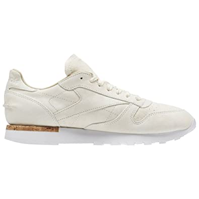 f7046bbd00a Amazon.com  Reebok - CL Leather Lst - BD1902 - Color  White-Beige - Size   10.0  Shoes