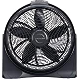Lasko 20″ Cyclone 4-Speed Fan with Remote Control, Black