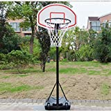 FCH Portable Basketball Hoop Height Adjustable Basketball Stand Backboard System for Kids Teenagers Youth w/Wheels Indoor & Outdoor