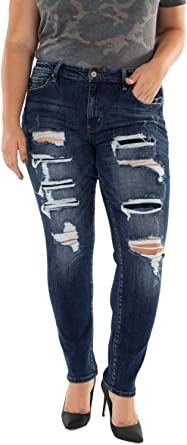 Kan Can Usa Distressed Ankle Skinny Jeans Kc5050d Kancan