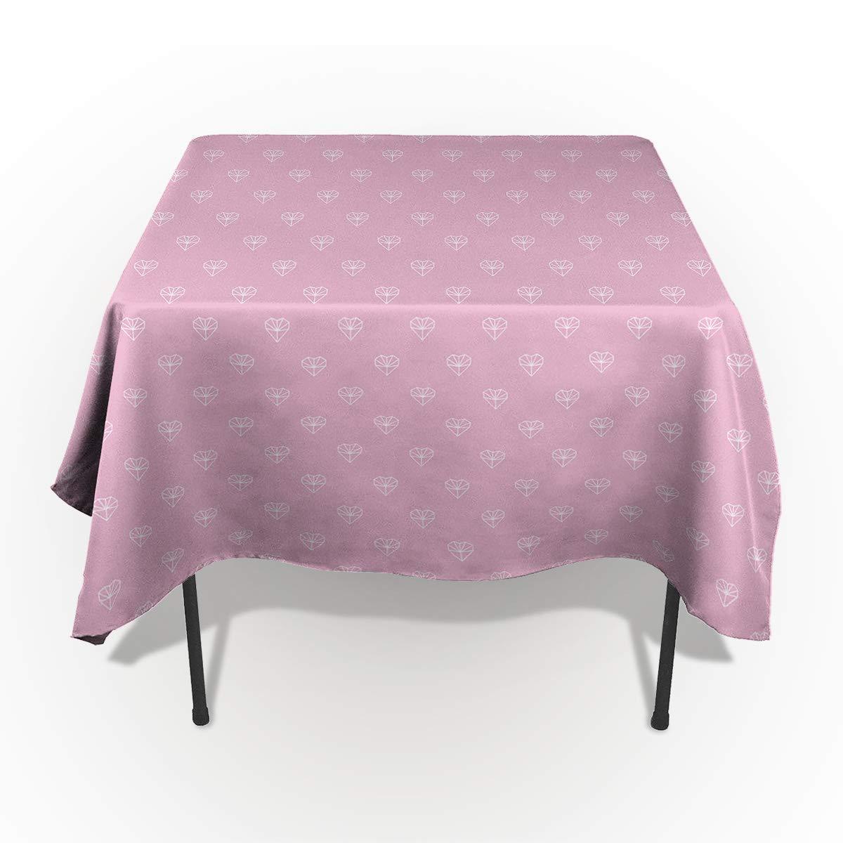 バレンタインデー ロマンチック ラブ 長方形 テーブルクロス コットンリネン 洗濯可能 長方形 テーブルクロス カバー ホーム キッチン デートディナー テーブルトップ 装飾 53x70in CXL190110-SLXM04225ZBABITH 53x70in カラー-7 B07MQDN999
