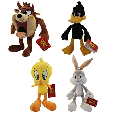 Funko Collectible Plush - Looney Tunes - Set of 4 (Daffy, Tweety, Bugs & Taz): Toys & Games