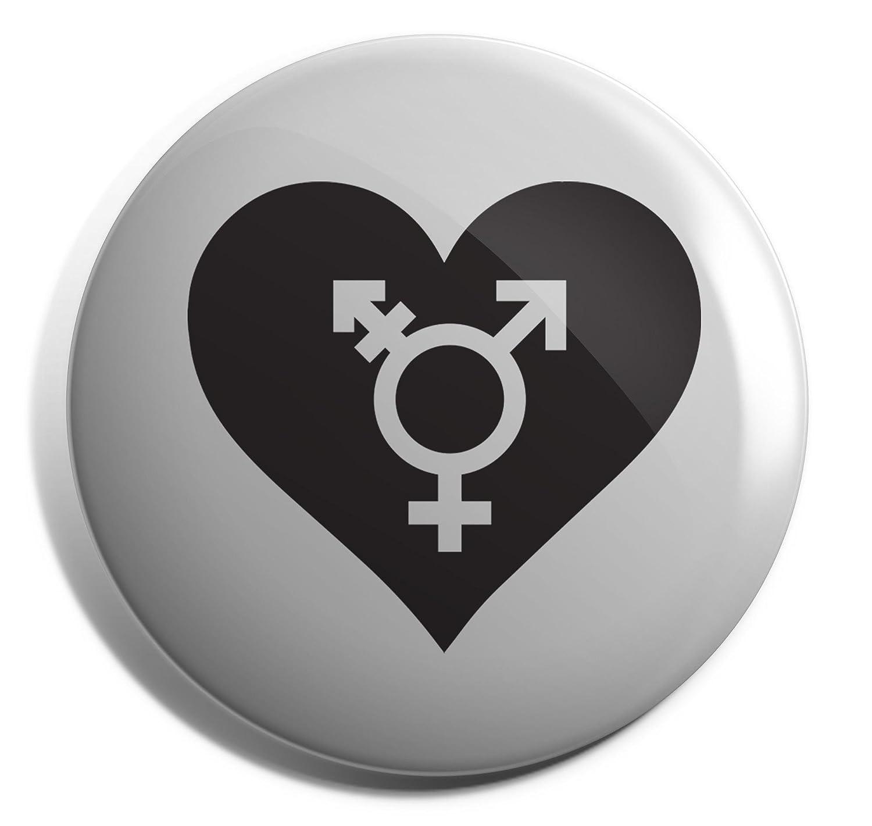 Hippowarehouse Heart Transgender Badge Pin