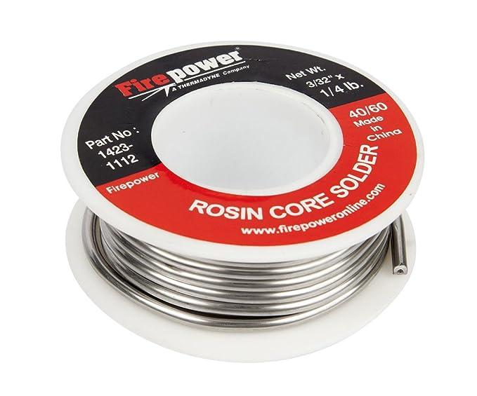 Firepower 1423-1114 Rosin Flux Core 40/60 Solder, 1/8-Inch x 1-Pound: Spot Welding Equipment: Amazon.com: Industrial & Scientific
