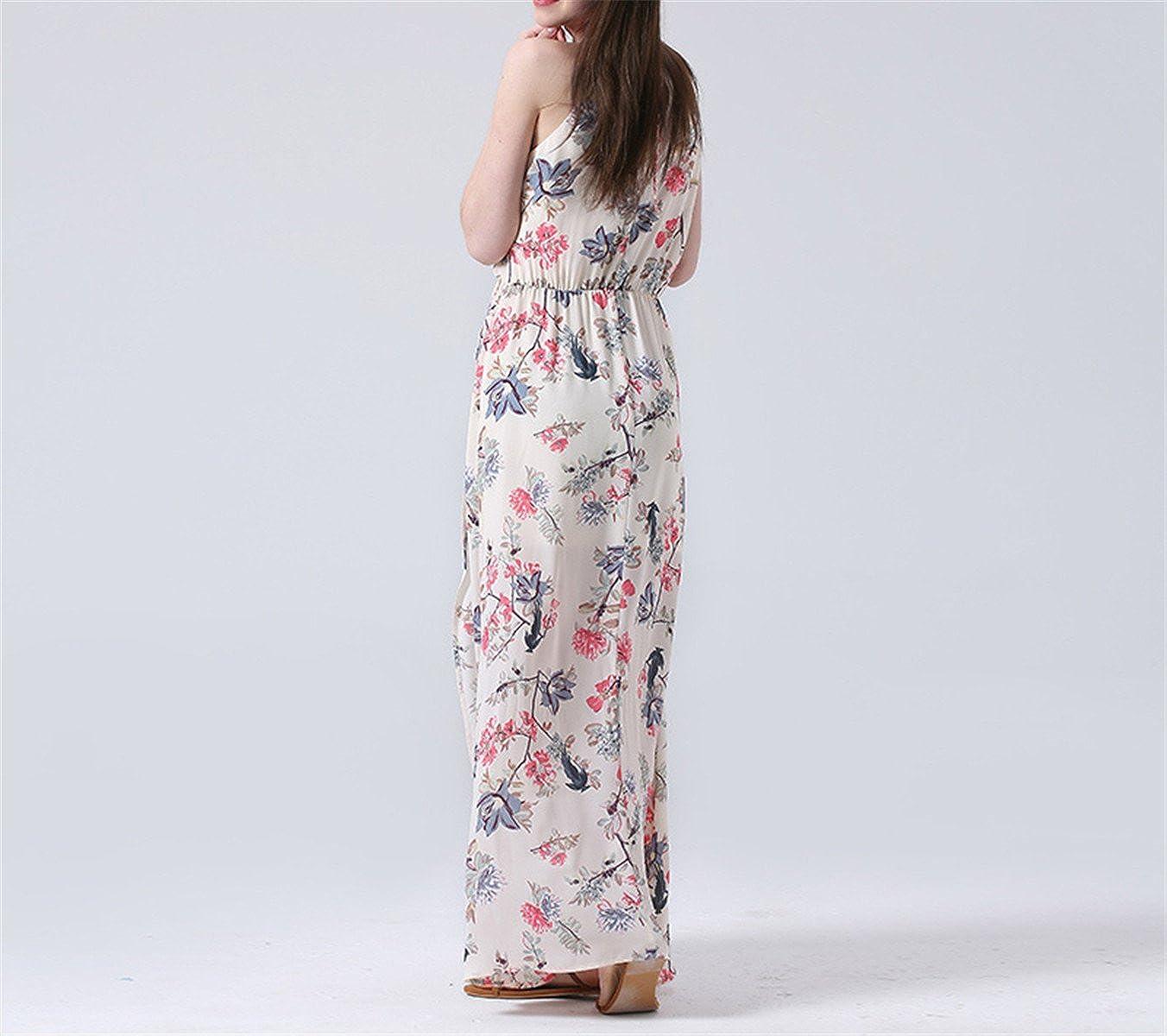 Amazon.com: Snmk gola estampa floral verão maxi praia vestidos de festa sexy clube vestido de verão importados-china verão NEW chiffon das mulheres do sexo ...