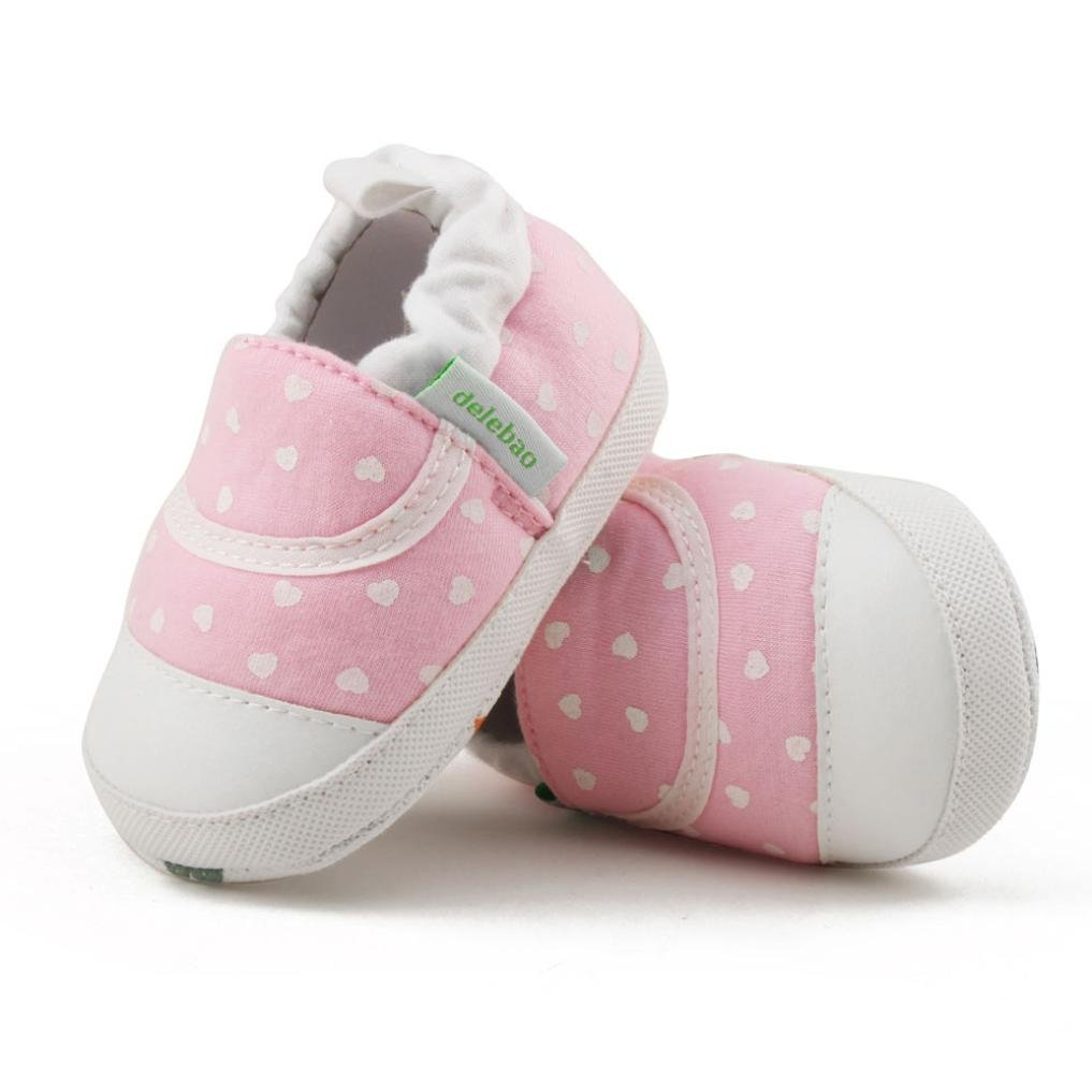 Iuhan Anti-Slip Baby Girl Boy Soft Prewalker Sneaker Infant Sole Crib Warming Shoes