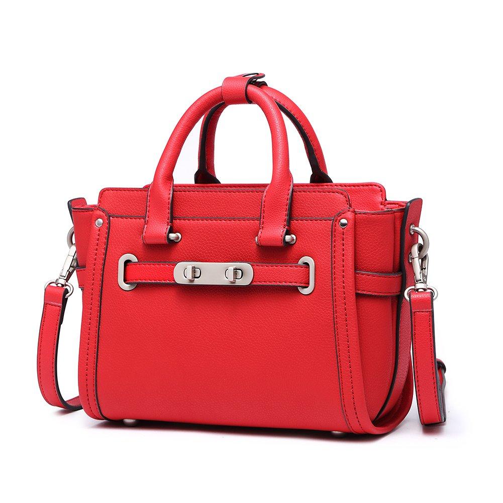 Medium Leather Crossbody Bag For Women, Ladies Purse Handbag Designer Satchels Tote Shoulder Bags Lightweight