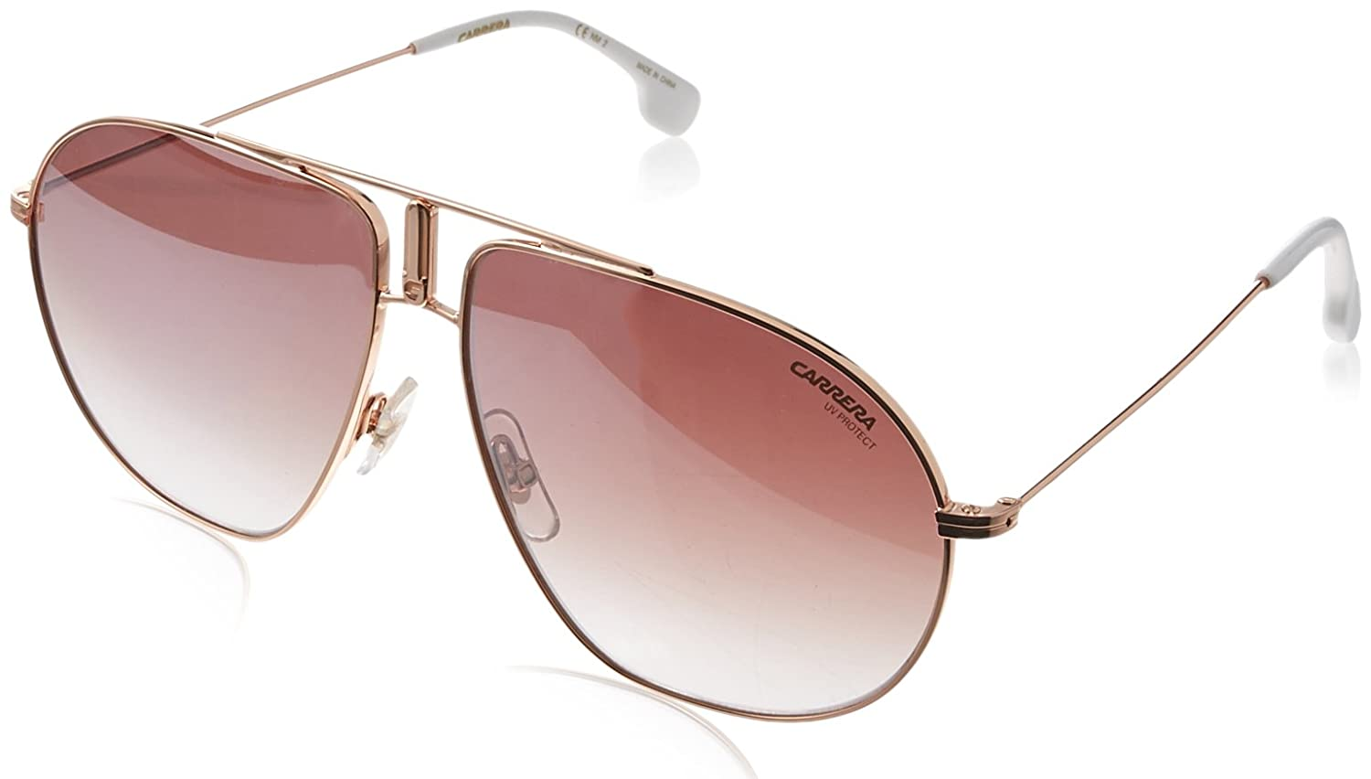 Carrera Mens Bound//s Non-Polarized Iridium Aviator Sunglasses Gold Copper 60 mm
