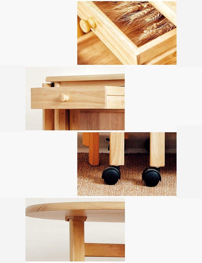 Amazon.com: Mesas ZR-Wall madera maciza plegable comedor ...