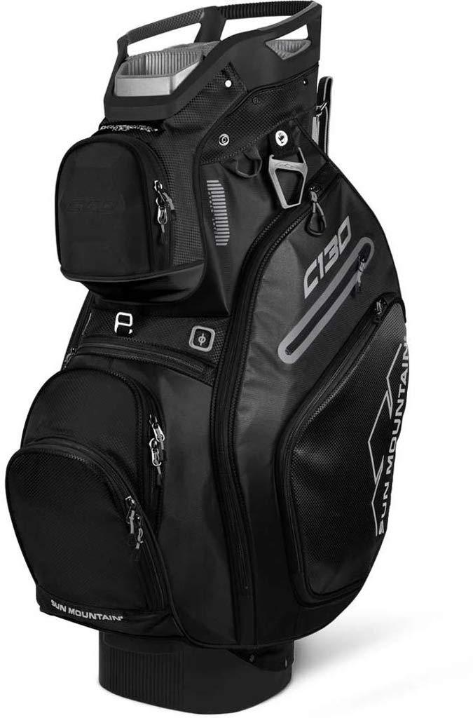 Sun Mountain Golf 2019 C-130 Cart Bag BLACK (Black) by Sun Mountain