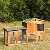 Kinbor Deluxe 54-Inch Rabbit Hutch Bunny Cage Small Animal House Pet Cage with Ladder