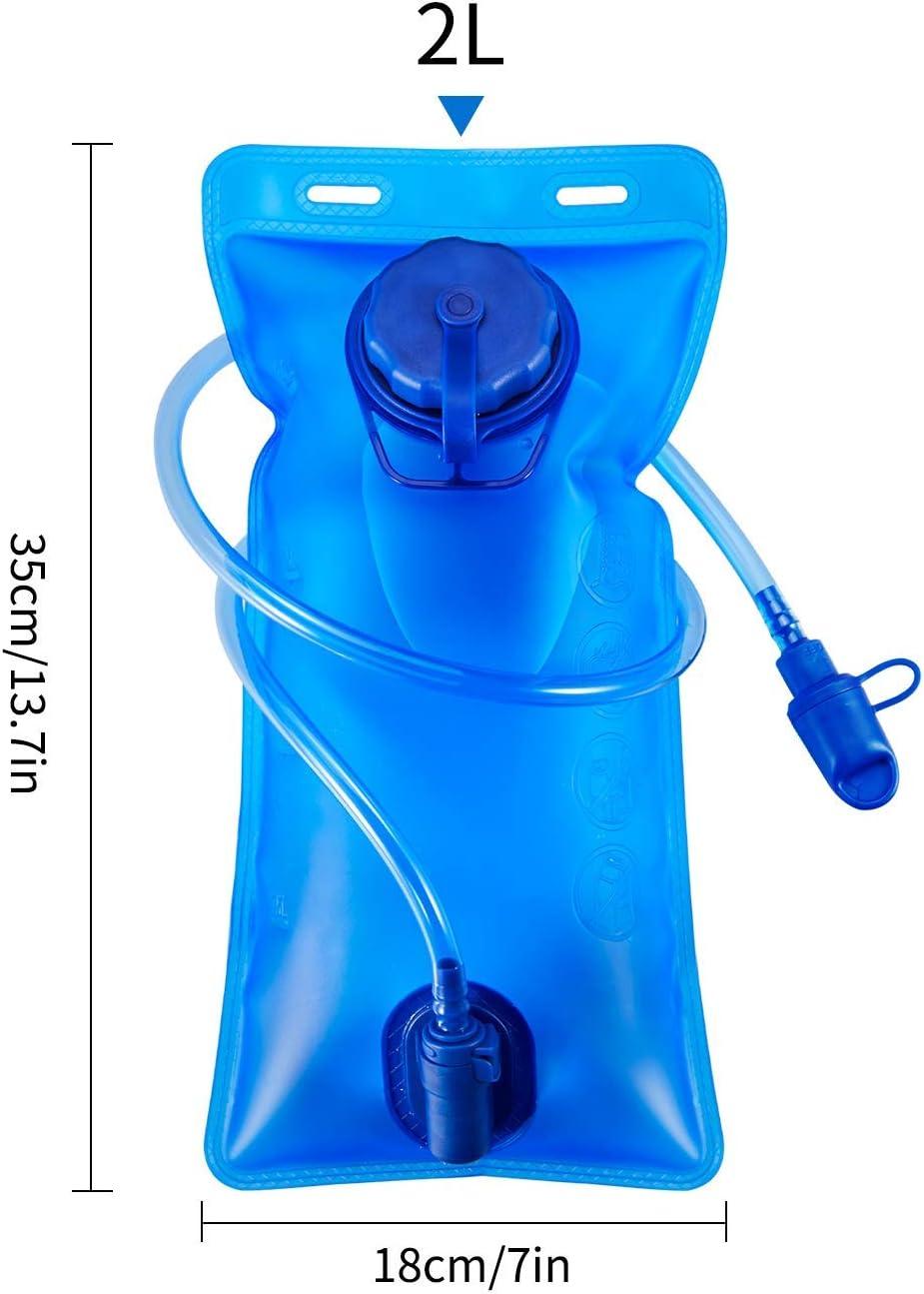 2 Liter Trinkblase Trinkblase Wasserblase Sport Wasser Blasen f/ür den Au/ßenbereich