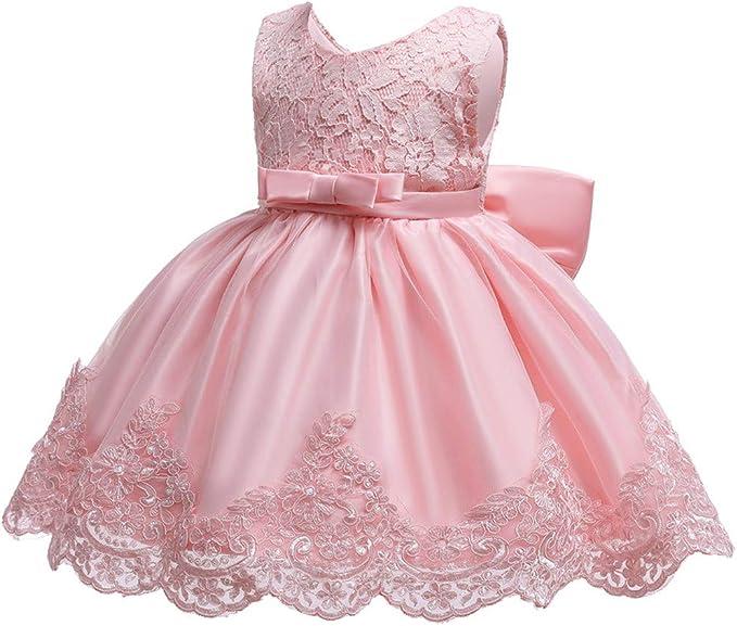 Ivory Flower Girl Bridesmaid Prom Wedding Christening Xmas Party Dress 0-6m-13y