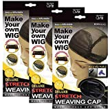 (US) (3 Pack) Qfitt - Deluxe Stretch Weaving Cap #5018