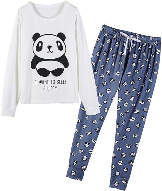 Womens Ladies Luxury Cute Panda Pyjamas /& Slippers Gift Set Full Length Warm Fun