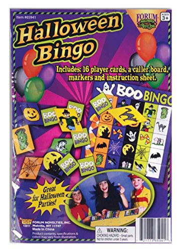 Bingo Halloween Costume (Forum Novelties 65941 children's party activities Halloween Bingo Game, Multicolor)