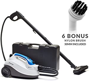Reliable Brio 225cc Steam Cleaning System with 6 Bonus Nylon Brush, 65 PSI Steam Cleaners Home Use, Steamer for Cleaning Tile, Grout, Carpet Cleaner, Hardwood Steam Cleaners, Steam Cleaner for Cars