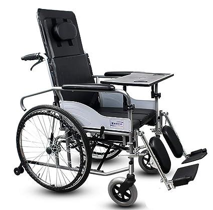 Silla de ruedas, apoyabrazos desmontable reclinable completo de la parte posterior con el asiento de
