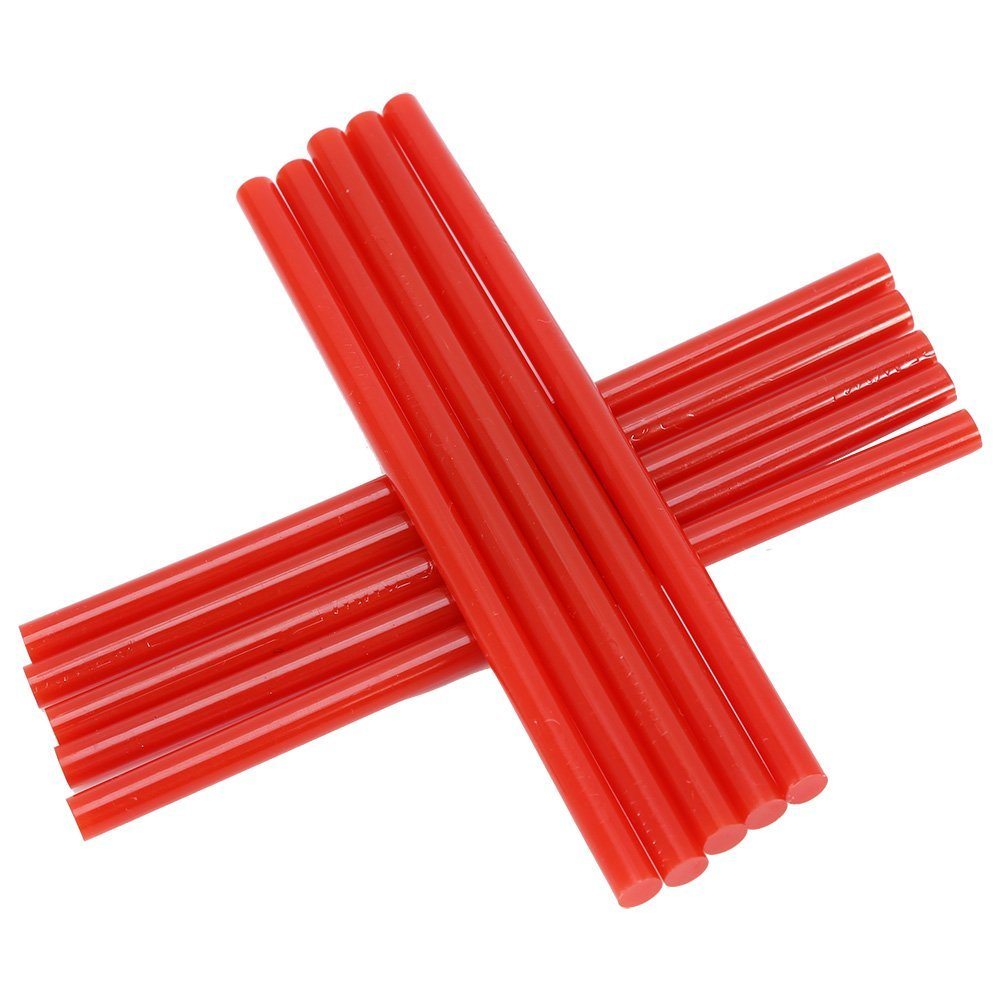 150mm Colorful Hot Melt Glue Adhesive DIY Craft Sticks for 20W Small Power Gun Blue Hot Melt Glue Stick Asixx 10Pcs//Set 7