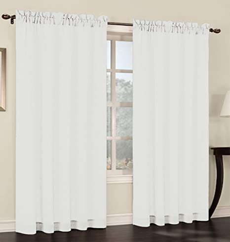 Curtains Ideas 54 inch long curtain panels : Amazon.com: Urbanest 54-inch wide by 96-inch long Faux Linen Sheer ...