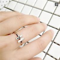 Kinbelle KPOP due volte BTS Wannaone regalo uomo donna gioielli anello supporto regolabile