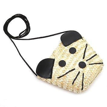 f5c274aa27ff Amazon.com : Best-topshop Straw Handbag with Zipper for Women Girls ...