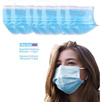 50pcs face mask, 3 Layers of Protection, Earl Loops Design(Shipping from USA,Arrived Within 3-5 Days)