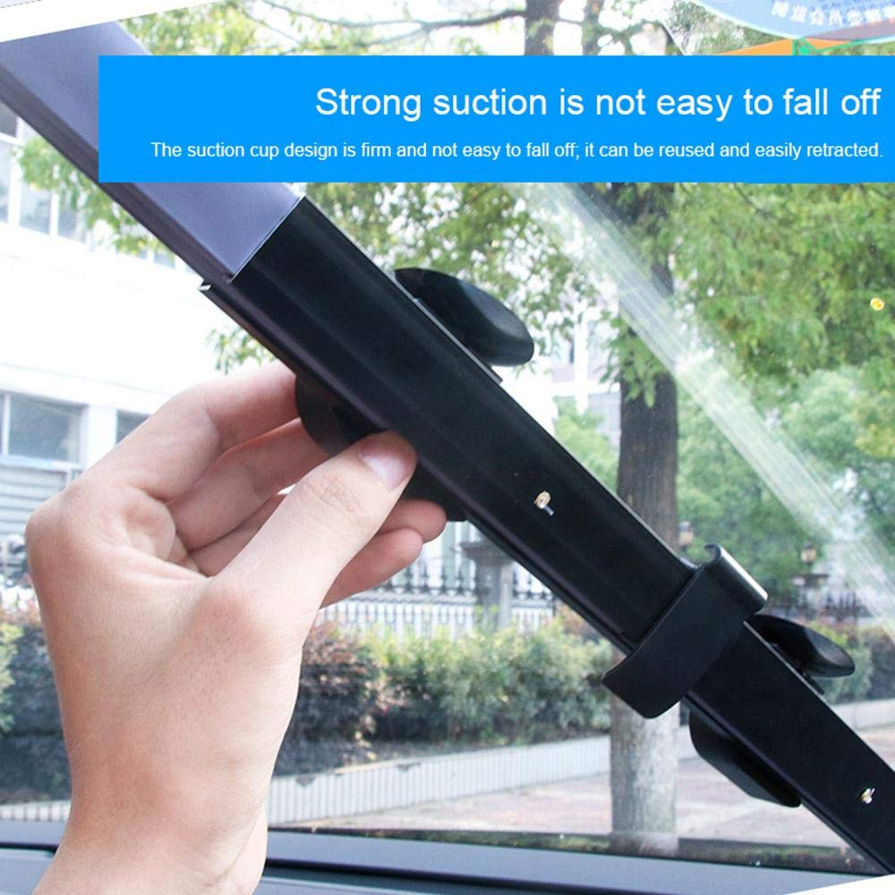 Volwco Automatic Car Sunshade Automatic Retractable Sunshade Foldable Windshield Sunshade For Car Suv Trucks Universal Keep Your Vehicle Cool 70CM