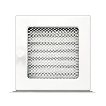 rejilla de aire caliente para chimenea Rejilla de ventilaci/ón 17 x 11 cm con o sin l/áminas negro 17 x 50 cm 17 x 30 cm regulable diferentes tama/ños 17 x 17 cm