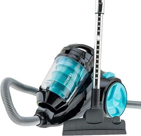 H.Koenig SLC85 - Aspirador sin bolsa multiciclónico silencioso +, Especial para Mascotas, 74 db , Filtro HEPA, Capacidad 2.5 l, Color Azul [Clase de eficiencia energética A]: Amazon.es: Hogar