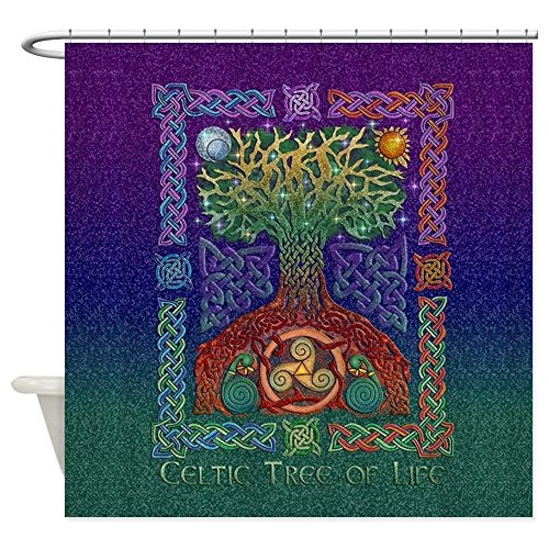 Celtic Tree Of Life - Decorative Fabric Shower Curtain
