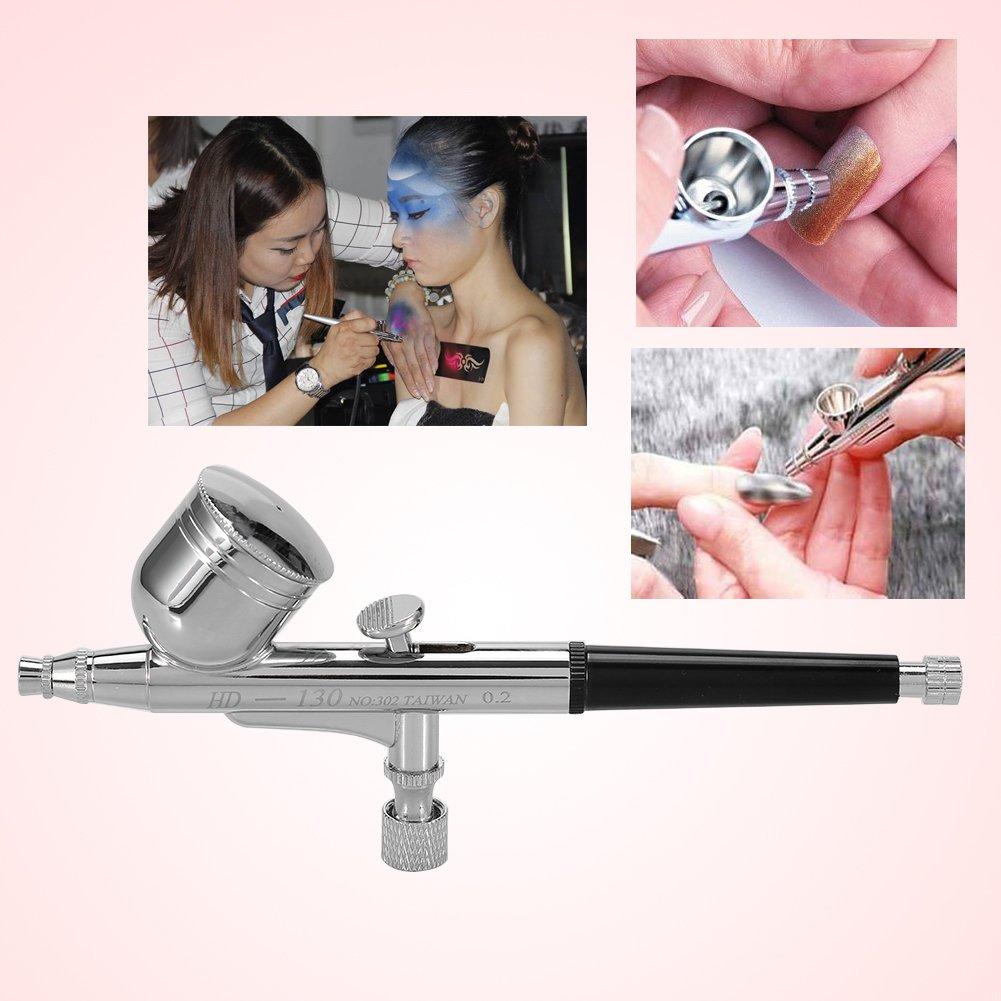 Pistola a spruzzo facciale per infusione di ossigeno 0.5mm dispositivo per la bellezza del viso con dispositivo di innesco a doppia gravit/à per acqua e vernice per la verniciatura delle unghie