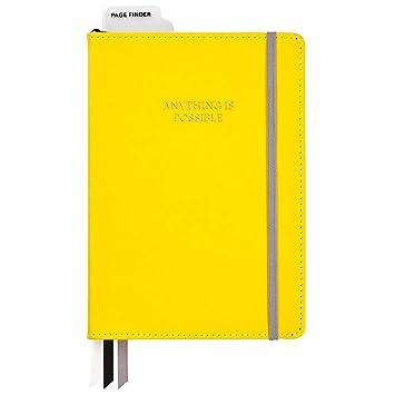 Amazon.com: C.R. Gibson – Diario de piel sintética amarilla ...