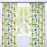 Bedlam - Jungle - Childrens Lined Pencil Pleat Curtains - 66' Width x 72' Drop (168 x 183cm), Multicolour