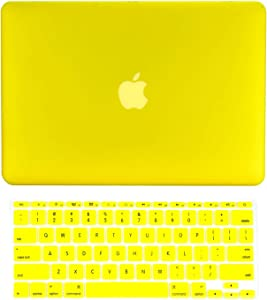 "TOP CASE - 2 in 1 Signature Bundle Rubberized Hard Case and Keyboard Cover Compatible MacBook Air 11"" (A1370 and A1465) - Yellow"