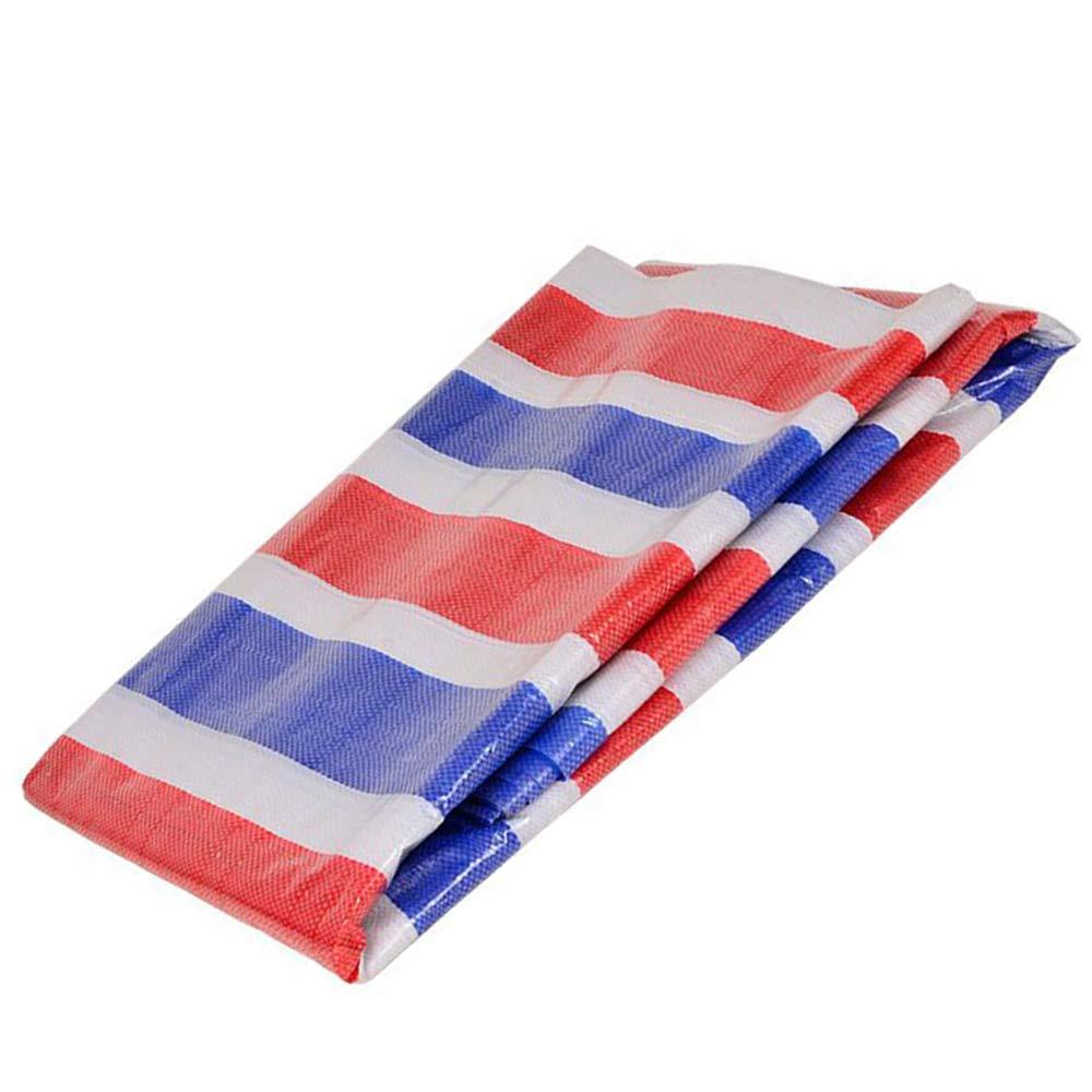 雨の布、カラーストリップの布、三色の布、プラスチック製の防水シート、防水と防雨布、日焼け止めの天幕布 B07GJPLJNY  8×8